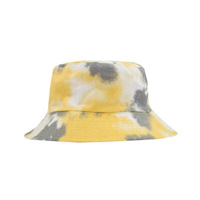TIE DYE BUCKET HAT- YELLOW